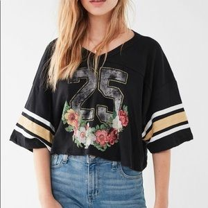 Urban Outfitters floral football crop too
